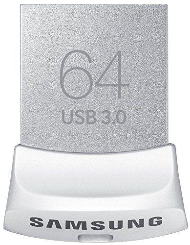 Samsung Memory Fit USB Flash Drive Speicherstick 64GB (USB 3.0, abwärtskompatibel zu 2.0, bis zu 130MB/s) silber/weiß