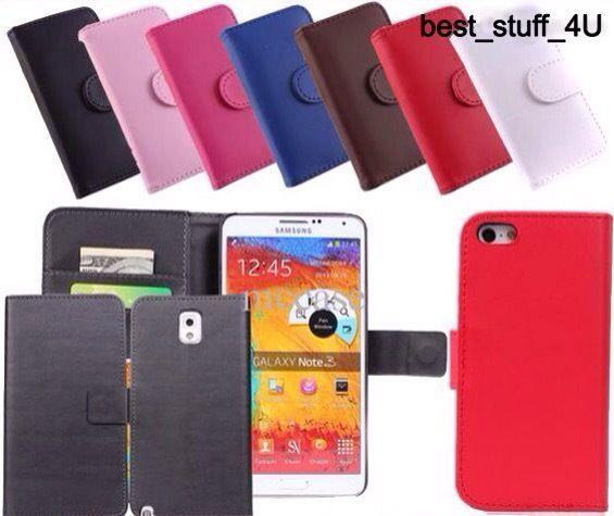Flip Leather Wallet Case A1 Cover Samsung S4 S5 S6 Mobile Free Screen Protector