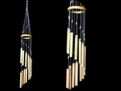 Carillon à vent - bois bambou - 14 tubes - 75 cm