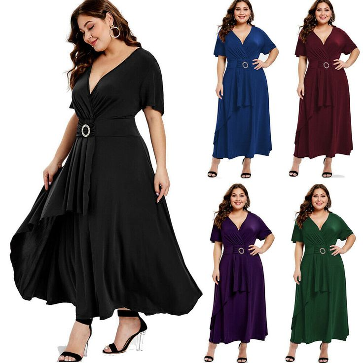 Plus Size L-5XL Womens Short Sleeve Overlap Dress Formal Evening Cocktail Dress - Plus Size Formal Dresses - Shop for Plus Size Formal Dresses for sales. #plussizeformaldresses #formaldresses #fashion -  0  The post Plus Size L-5XL Womens Short Sleeve Overlap Dress Formal Evening Cocktail Dress appeared first on Dress Honey.