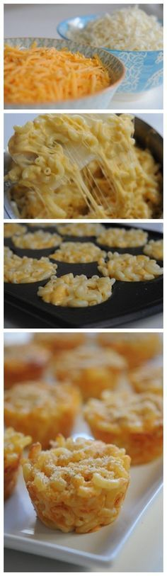 Mac and Cheese muffins. Lunch box idea. Look at comments under recipe for variations :) (cheese bites lunch boxes)