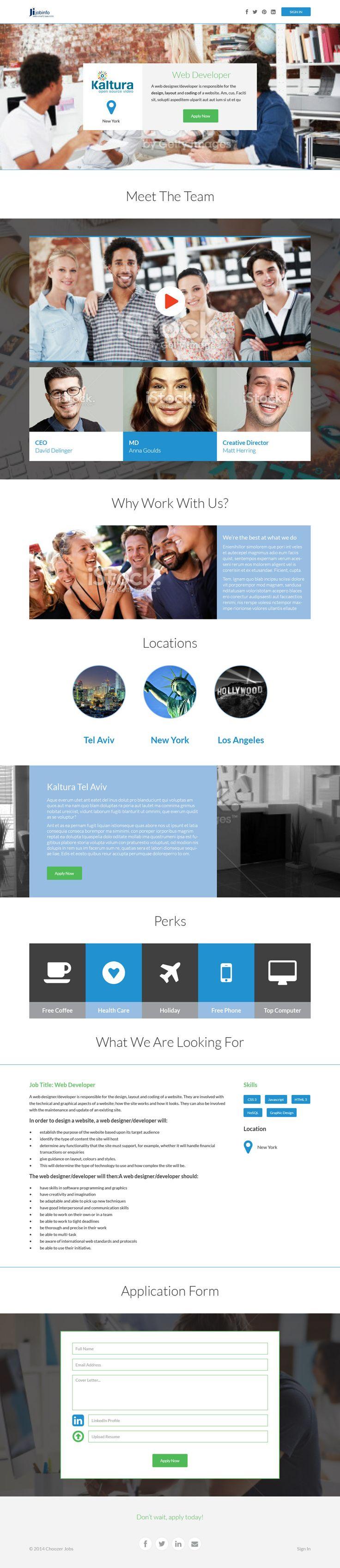 Choozer Jobs (mockup only) #Flat #WebDesign by #YellowDNA