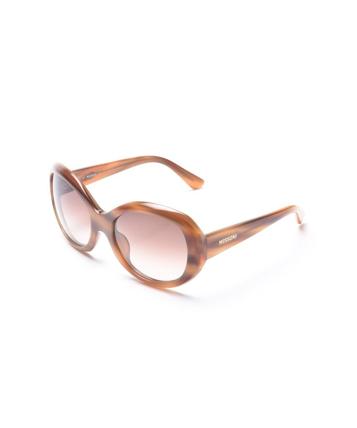 MISSONI MISSONI WOMEN'S OVERSIZED ROUND SUNGLASSES BROWN'. #missoni #sunglasses