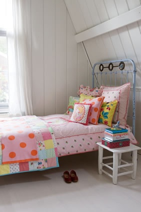 Room Seven USA - Spring 2011 Collection Childrens Clothing Bags and Bedding I like the mix of florals, gingham, and polka dots.