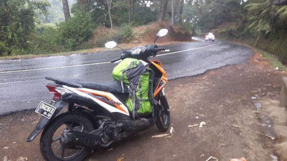 Riding from Kintamani to Munduk