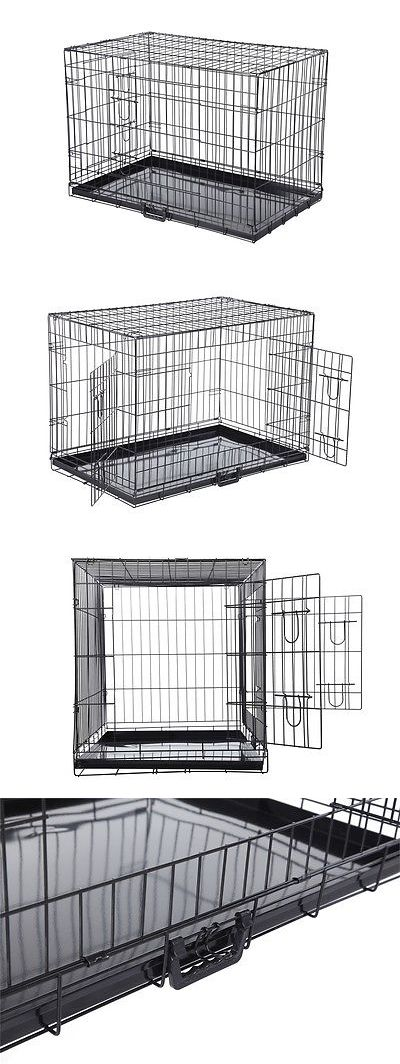 Animals Dog: Confidence Pet Folding Dog Crate Kennels 2 Door Puppy Cage BUY IT NOW ONLY: $42.99