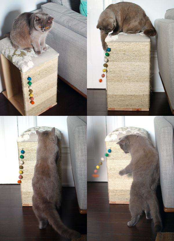 DIY Cat scratcher / cat furniture. Ikea hack