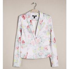 veste de tailleur, imprimé fleuri, fermeture 1 bouton, 2 poches passepoilées @jennifer_brand