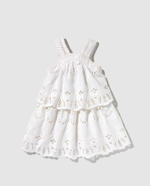 Vestido de niña Bass 10 en tejido bordado