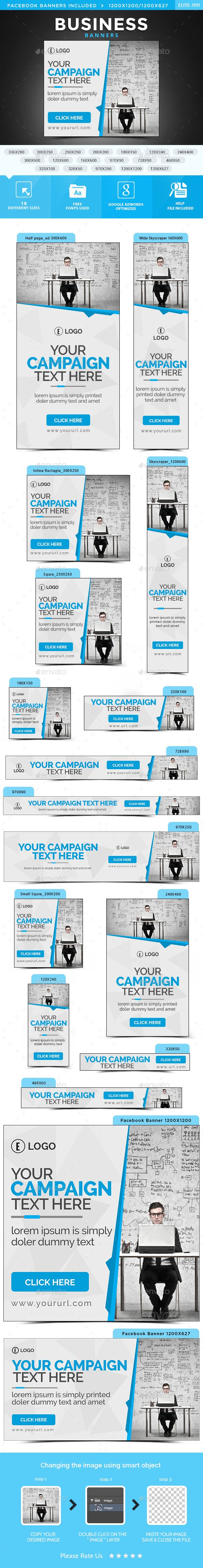 Business Web Banners Template PSD. Download here: http://graphicriver.net/item/business-banners/14918519?ref=ksioks