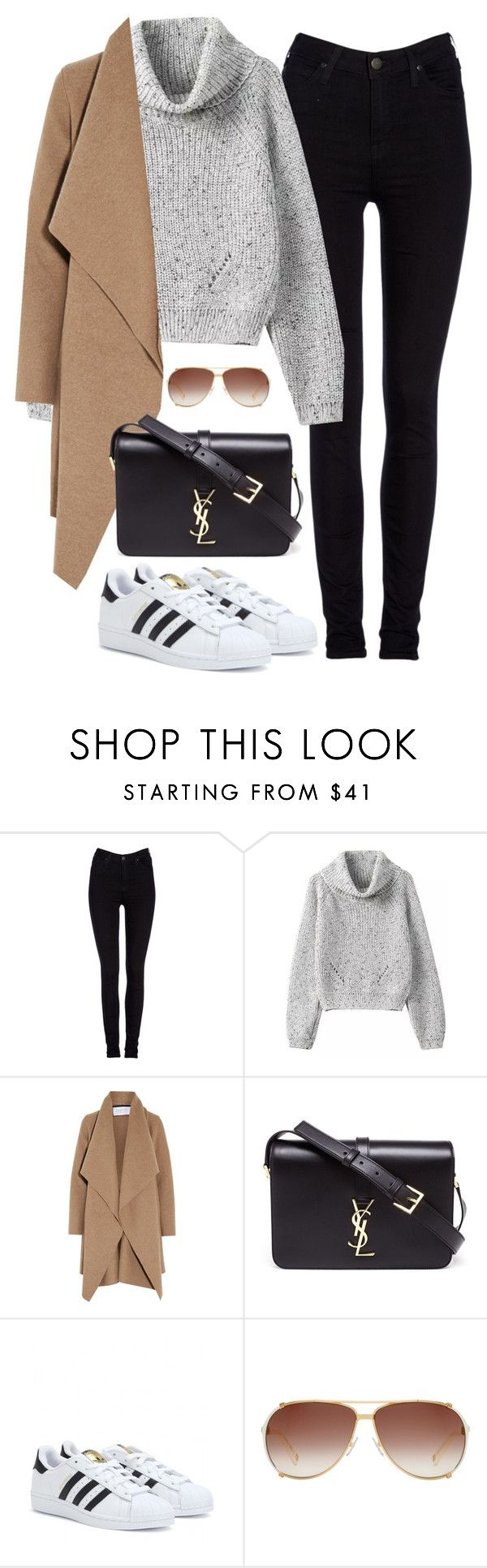 """Untitled #469"" by christyandnef on Polyvore featuring Lee, Harris Wharf London, Yves Saint Laurent, adidas, Christian Dior, women's clothing, women, female, woman and misses"