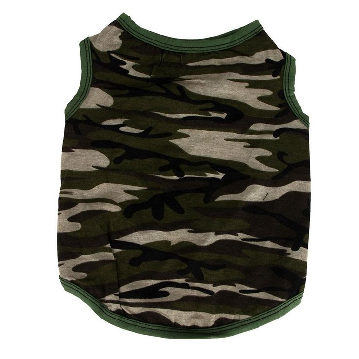 Pet Dog Classic Army Green Camouflage Shirt Vest