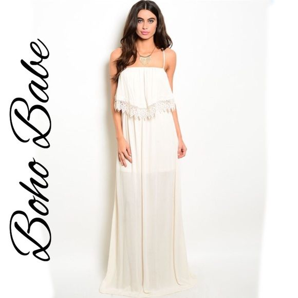 WILLOW cream maxi dress WILLOW cream maxi dress. This beautiful goddess  dress features - The 25+ Best Cream Maxi Dresses Ideas On Pinterest Cream