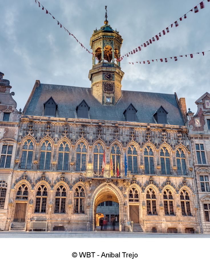 Town Hall of Mons.  Mons 2015 European Capital of Culture. Wallonia, Belgium.