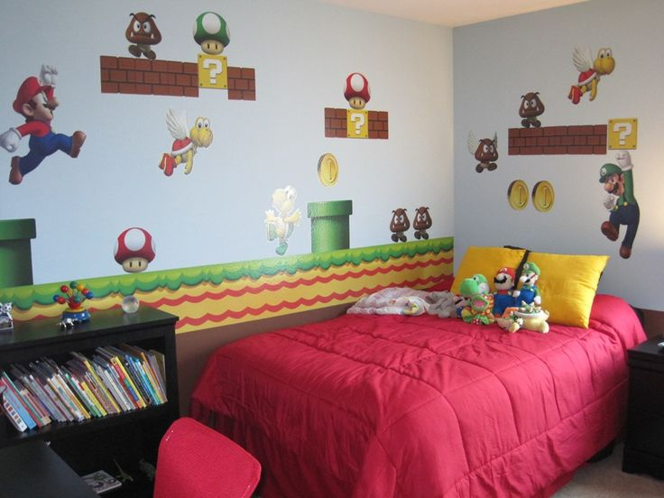 bedroom super mario brothers wall decals with red seat super mario brothers wall decals attractive wall decors for your boys room video game wall