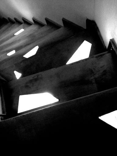 Staircase in Myconos vacation house project - Under construction