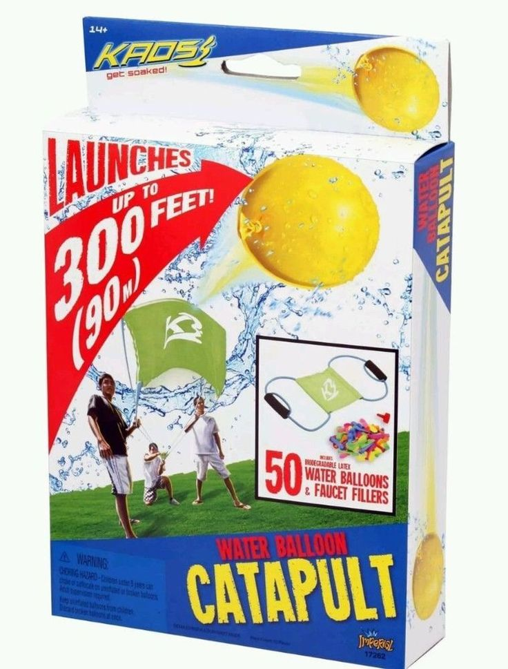 KAOS Catapult Water Balloon Launcher with Faucet Fillers & 50 Balloons NEW #ImperialToy