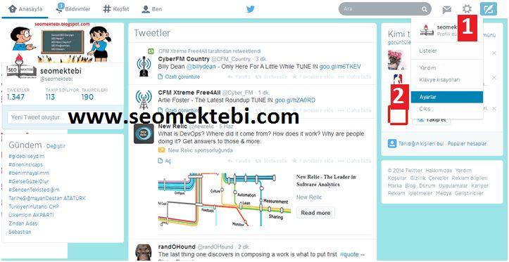 Twitter İnternet Bildirimleri Ayarları Nasıl Yapılır