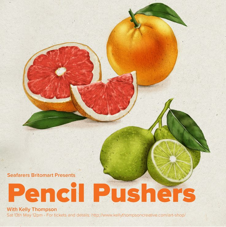 Pencil Pushers Art Class May 13th with Kelly Thompson