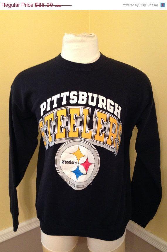 SALE 20% OFF Vintage Pittsburgh Steelers NFL Football 1980's Sweatshirt - 80s Nfl shirt - Hipster clothing - Vintage Nfl - Nfl Sweatshirt(Xl by NJVintage on Etsy https://www.etsy.com/listing/210655836/sale-20-off-vintage-pittsburgh-steelers