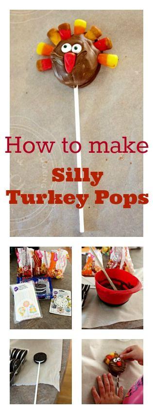 Silly Turkey Pops Thanksgiving Treat Recipe