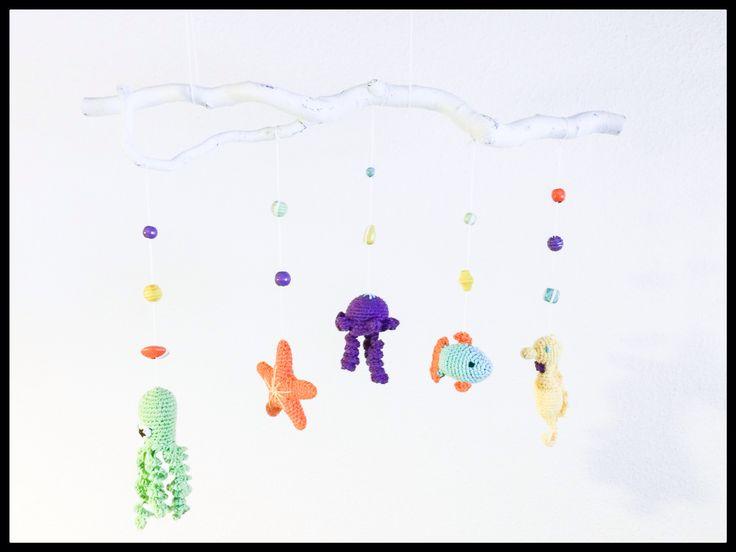 Crochet mobile - hæklet uro #obber