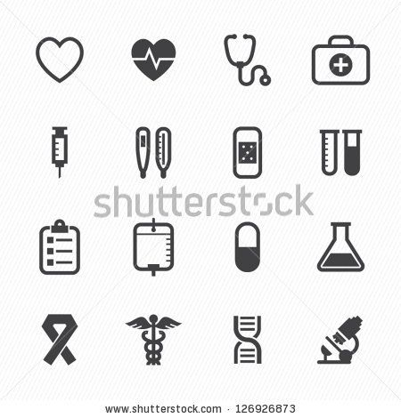 Medical Icons with White Background : NO.1 by pking4th, via ShutterStock