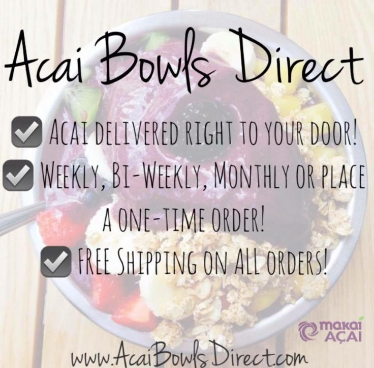 ORDER NOW!! www.AcaiBowlsDirect.com Every box from Acai Bowls Direct comes with 25 packs of USDA Organic Non-GMO Grade –A  Makai Acai.  We even throw in a whole bag of Natures Path Organic Hemp Granola for FREE! #acaibowlsdirect #acai #acaibowl #makai #makaiacai #makaiarmy #acaiberry #acaiberryoriginal #bowled #purple #purpleberry #healthy #healthyfood #superfood #superfoods #organic #organicfood #beautyberry #bodyfuel #vegan #glutenfree #glutenfreevegan #freeshipping #ordernow…