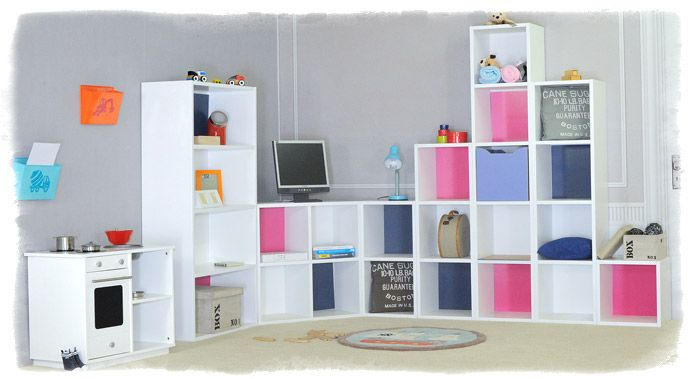 13 best images about grand meuble rangement pour salon on for Cube rangement mural ikea