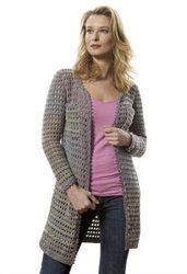 This pattern is for the intermediate crochet-lover. Follow the pattern that comes with this jacket and you will love the final result. Wear it any time of year. http://www.favecrafts.com/Crochet-Sweaters/Jacket-with-Ribbon-Trim/ml/1