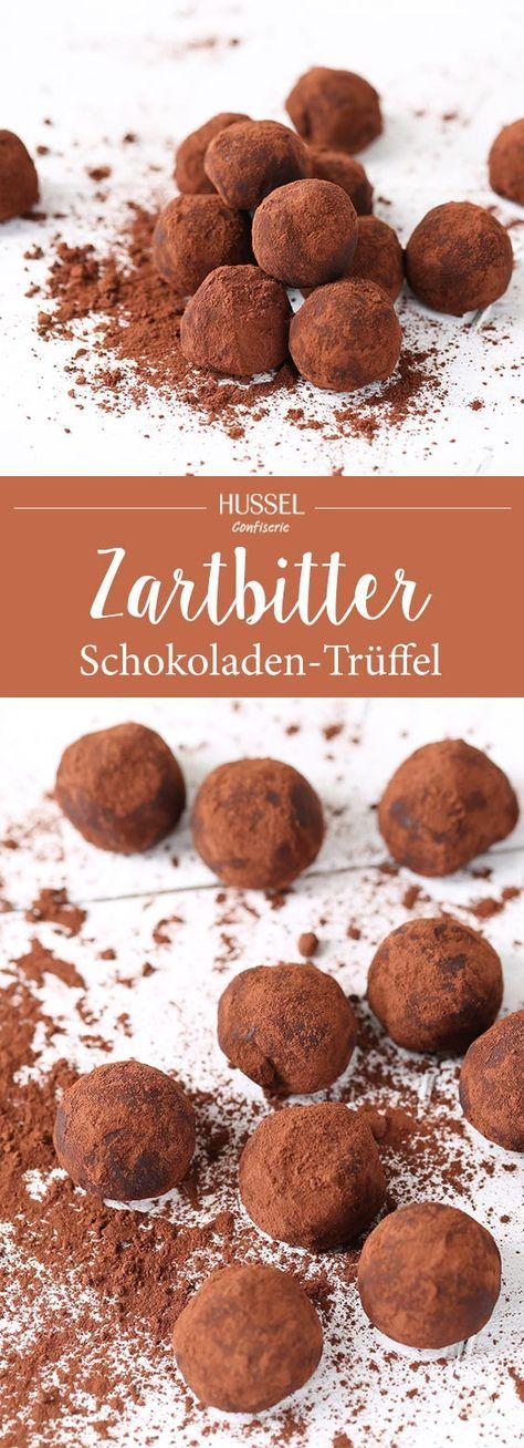 Zartbitterschokoladen-Trüffel - Hussel Confiserie