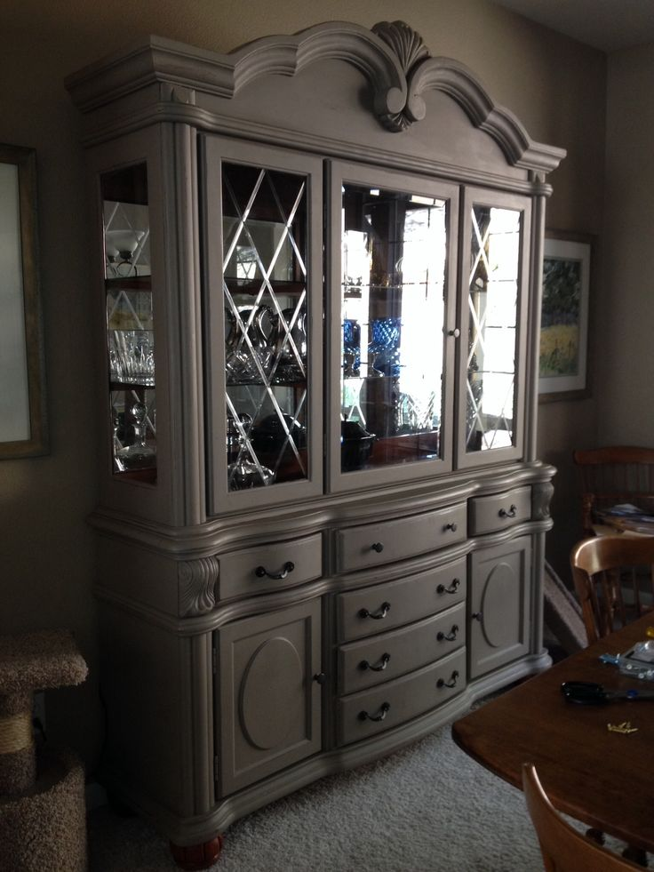 After - Annie Sloan chalk paint in Coco and clear wax with light distressing. New hardware.