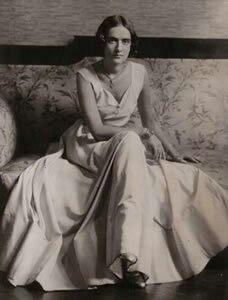 Australian born , British writer Elizabeth von Arnim. Born Mary Annette Beauchamp. Her first husband died in 1910 and she married her second husband in 1916, she was the lover of writer H.G.Wells between 1910-1913. Ultimately she fled to America in 1919.  Her 1922 novel Enchanted April became a five times adapted broadway play in 1925 and an Academy award nominated film in 1992.