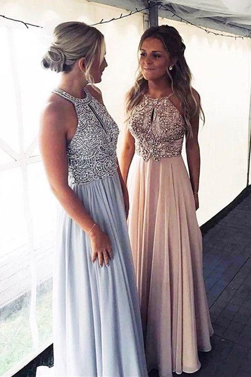 Luxurious Beads Chiffon Long Prom Dress from modsele