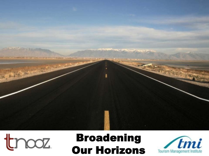 broadening-horizons-tourism-management-institute by Kevin May via Slideshare