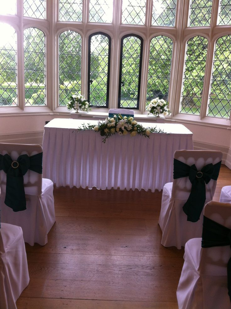 The Great Chamber, upstairs at Hall Place, Bexley, the second more personal room for smaller wedding ceremonies, overlooking the rose gardens and topiary