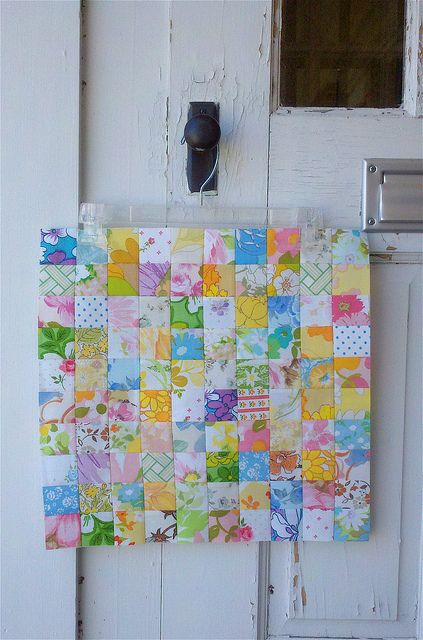 Vintage Quilt Block - 100 postage stamp block