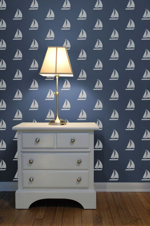 Anchor's Away Reusable Wall Stencils for DIY decor by DIYstencils   Future Home   Pinterest ...