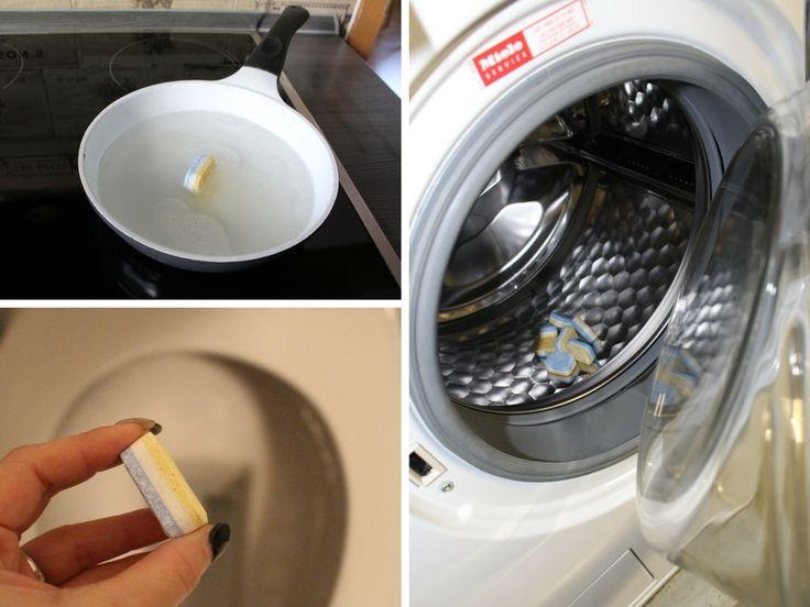 Nutze Spülmaschinentabs doch auch mal außerhalb der Spülmaschine! Du wirst verblüfft sein, was in ihnen steckt! Erfahre mehr auf Haushaltsfee.org