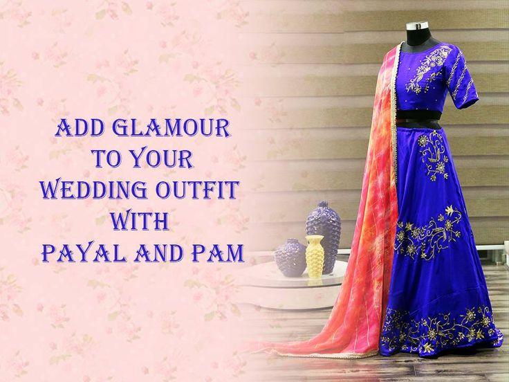 Add glamour to your wedding outfit with #PayalAndPam. Address: 107, ratna high street, naranpura, Ahmedabad. Contact: 099041 59951 #Fashion #Clothing #LehngaCholi #Saree #CityShorAhmedabad