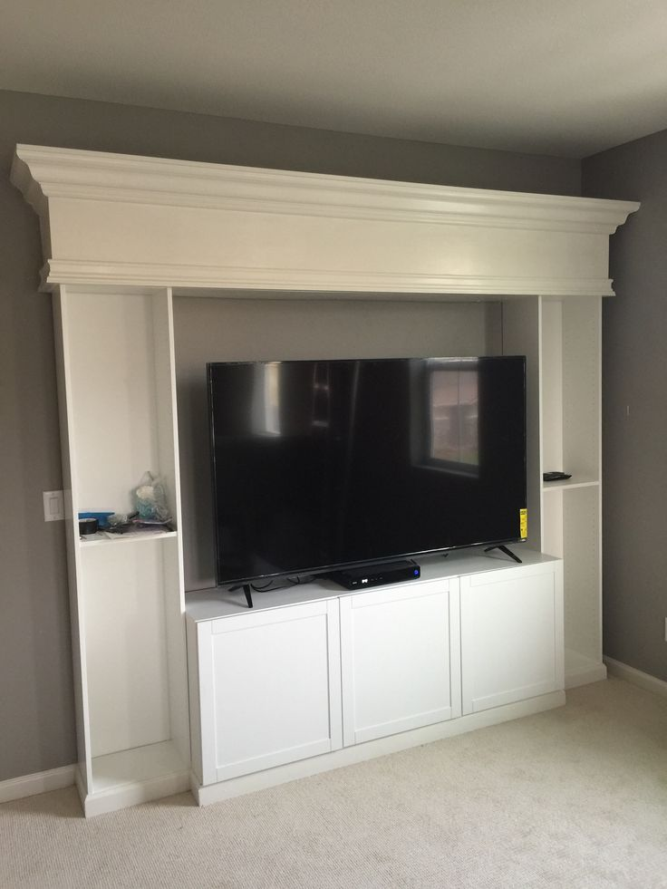 Here's another DIY Ikea hack project. This ones a custom entertainment cente…