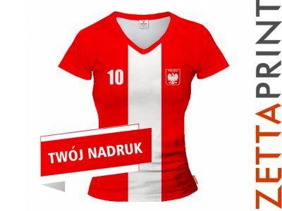 POLSKA Koszulka Damska Piłkarska Nadruk ZTT_DS1120