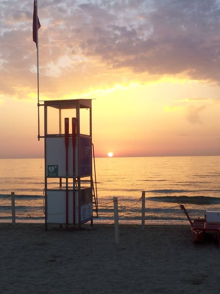 Romantic sunset in Milano Marittima