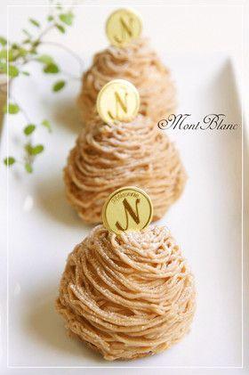 ✿栗のモンブラン✿ by nyonta [クックパッド] 簡単おいしいみんなのレシピが137万品