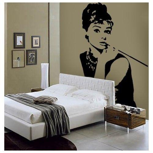 37 best wall art images on pinterest interiors bedroom for Audrey hepburn bedroom designs