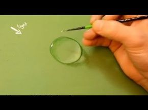 How to paint a water drop in Acrylics. I always wondered how they did that and now I know!