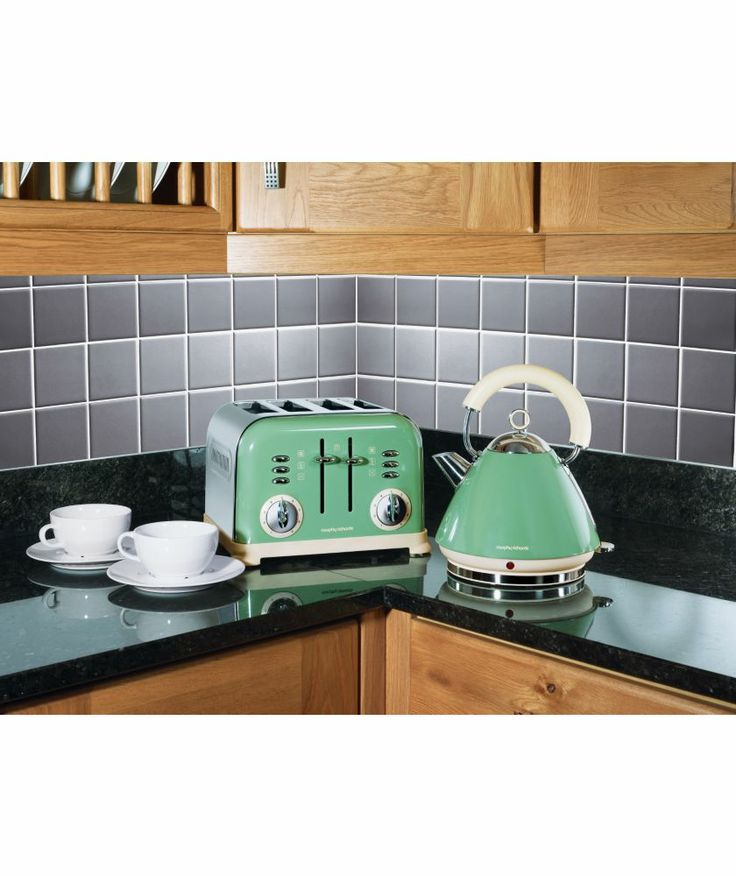 Shop for latest stylish and classic morphy richards for Kitchen set kettle toaster microwave