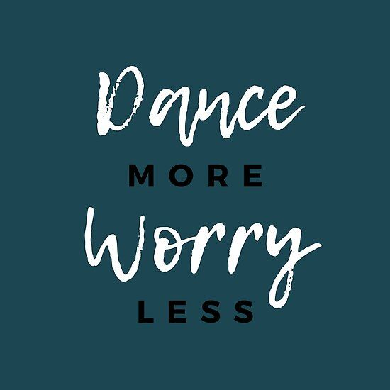 More Gift Pillow Dance Worry Less