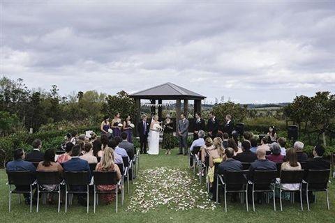 Beautiful setting for outdoor ceremonies.