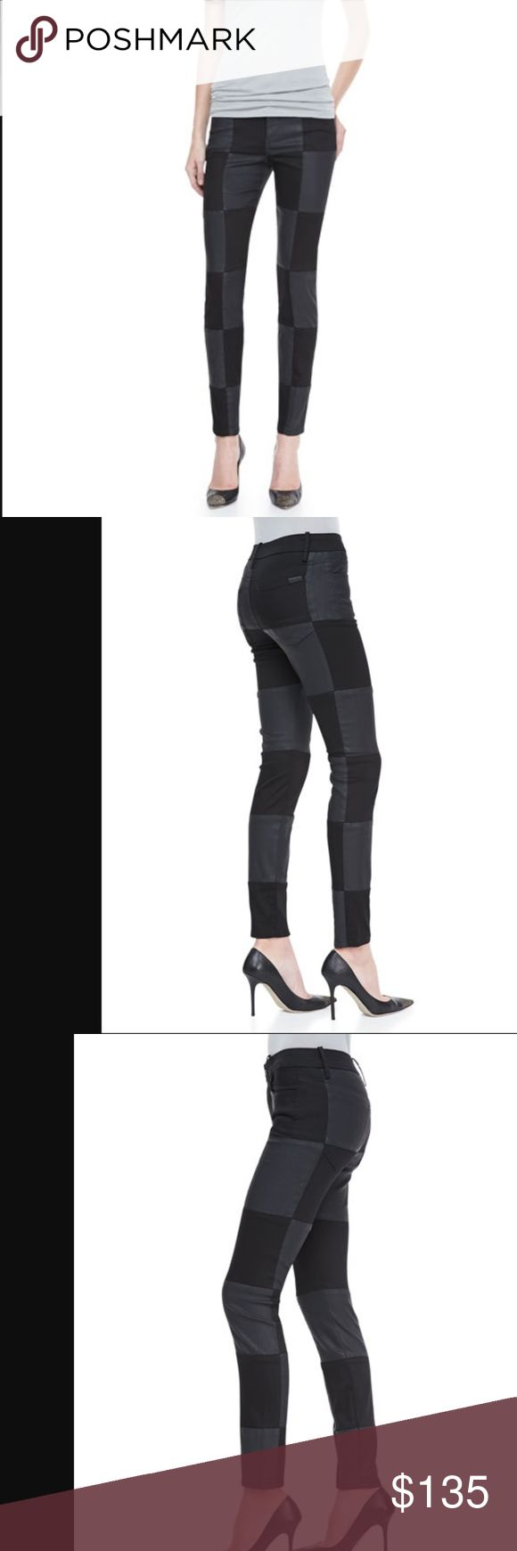 Joe's Jeans | Black Checkered Skinny Ankle Jeans NWT Joe's ' Super Chic ' Jeans checkered stretch denim in black. Fitted through skinny legs, cropped at ankle. Checkered stretch denim. Mid-rise. Five pocket style. Button.zip fly, belt loops. These are gorgeous! These are NWT  - there is some writing on the inside of the jeans on the pocket flap (see pictures!)   65% Lyocell, 33% Cotton, 2% Elastane. Contrast is 100% Lambskin Leather. Dry cleaning is recommended, though they are machine…